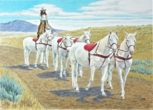 Riding Six White Horses